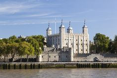 The Tower of London from across the River Thames.