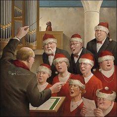 Christmas card design by Marius van Dokkum Michael Sowa, Celebrity Caricatures, Christmas Clipart, Merry Christmas, Christmas Decor, Expressive Art, Z Arts, Dutch Artists, Norman Rockwell