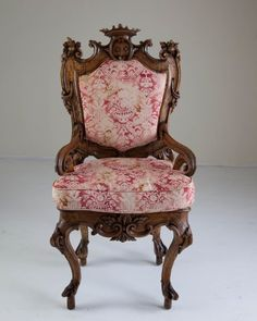 Carved Walnut Rococo Chair : Lot 362