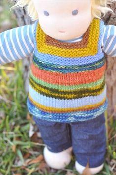 pattern for waldorf doll vest
