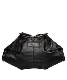Black De Manta leather Clutch Bag