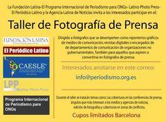Anuncio y confirmación del Seminario Taller de Fotografía de Prensa en octubre de 2014.