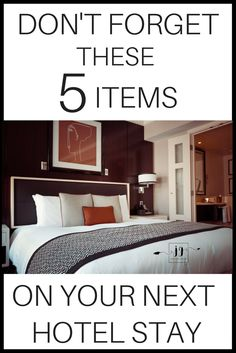 Make your hotel room feel like home!