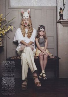 What a great portrait Mother & Daughter....love