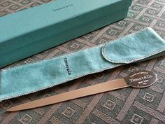 Rare Solid Silver letter opener Tiffany & Co 925 Spain Sterling Boxed best gift