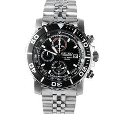 Seiko SNA225 jubliee Alarm Chronograph 100m diving mens watch SNA225