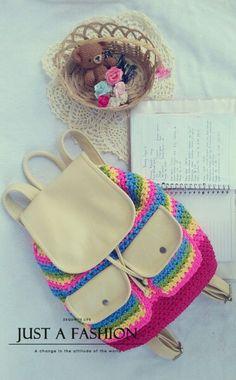 Misyel shin crochet backpack
