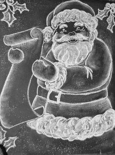 Chalkboard Santa