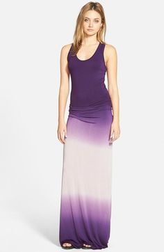 I love the purple! I want this dress! | Young, Fabulous & Broke 'Hamptons' Racerback Jersey Maxi Dress available at #Nordstrom