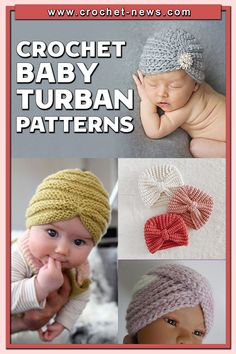Crochet turbans look adorable on babies. They are perfect for parties, baby showers, photo shoots or just going outdoors.If you are looking for a unique baby gift item, try one of the crochet baby turbans we have listed.It's hard to imagine baby not wearing something on her head–after all, the newborn beanie has been part of her getup practically from the moment she was born. Crochet Turban, Crochet Baby Hats, Knit Or Crochet, Cute Crochet, Easy Crochet, Baby Knitting, Basic Crochet Stitches, Crochet Basics, Crochet For Beginners