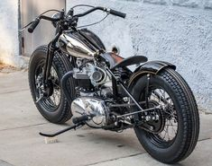 Triumph bobber, custom and cool!