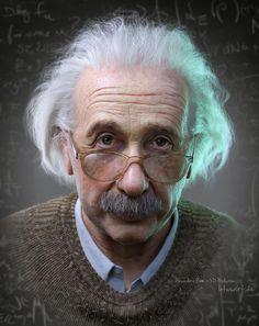 ArtStation - Albert Einstein Portrait for a Hologram, Alexander Beim
