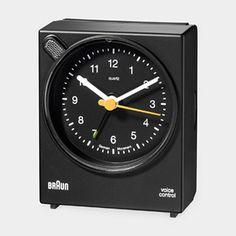 Braun voice controlled alarm clock