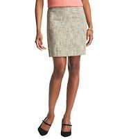 """Seamed Tweed Skirt - Our irresistibly textured tweed gets tailored with seamed side panels - and a hint of stretch - for a sensationally slimming result. Hidden back zip. Lined. 18"""" long."""