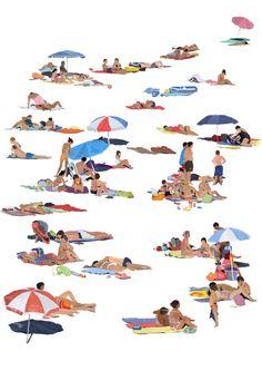 BEACH - Raphaëlle Martin | Illustration Portfolio