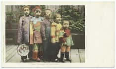 More Chinese children in San Francisco. From around 1898