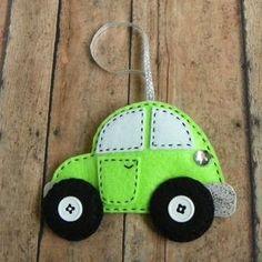 Ornamento di auto auto ornamento del feltro di PaisleyMoose