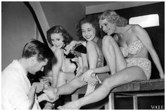 Dancers Pedicure. Vogue 1950