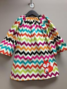 Hey, I found this really awesome Etsy listing at https://www.etsy.com/listing/200621381/fox-chevron-fall-peasant-style-dress