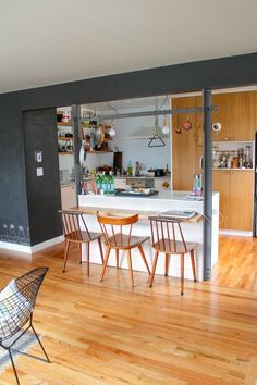 open kitchen  The Duplex, Right Side: Jean & Dylan's Playful, Working Hideaway — House Tour