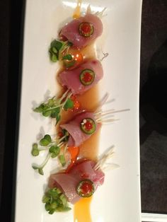 Sushi Wa Las Vegas, Yellow Tail Sashimi w/Jalapeno....