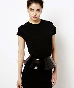 Black plastic belt