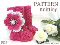 P A T T E R N Baby Booties Baby Girl Shoes Pattern par Solnishko43
