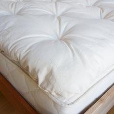 Trapuntino naturale, topper cotone o lana