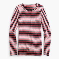 Shop the Slim perfect long-sleeve T-shirt at J.Crew and see the entire selection of Women's Knits. Find Women's clothing & accessories at J. Crew Clothing, Long Sleeve Tops, Tees, Shirts, J Crew, Slim, Clothes For Women, My Style, How To Wear