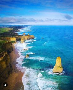Here's another stunning shot of the 12 apostles on the Great Ocean Road from November's #liveinvictoria photo of the month winner @juddy_83 Don't they look amazing from above? #Victoria #vic #greatoceanroad #gor #12apostles #twelveapostles #fromtheair #helicopterride #12apostleshelicopters #coast #coastline #beach #rocks #cliffs #sea #ocean #surf #waves #stunning #landscape #beautiful #nature #love #australia #liveinaustralia by liveinvictoria