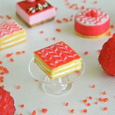 Hey, I found this really awesome Etsy listing at https://www.etsy.com/listing/152040461/miniature-millefeuille-cake