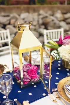 Nautical Chic Wedding Inspiration - Belle The Magazine ~Different. What do you guys think? Yay or Nay? Lantern Centerpiece Wedding, Wedding Lanterns, Floral Centerpieces, Wedding Centerpieces, Floral Arrangements, Wedding Decorations, Centrepieces, Centerpiece Ideas, Nautical Wedding