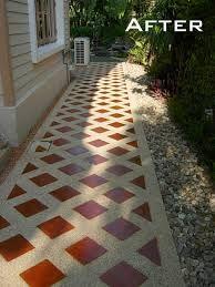Tile and Sandwash Walkway - Thai Garden Design - The Thai . Garden Yard Ideas, Side Garden, Garden Paths, Side Walkway, Garden Tiles, Granite Flooring, California Garden, Clay Tiles, Tropical Garden