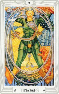 0 - Le fou - Tarot Thoth par Aleister Crowley