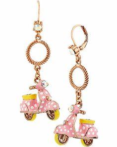 Betsey Johnson vespa earrings