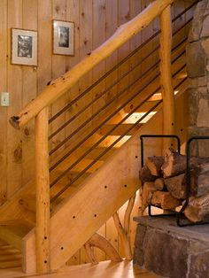 Wow check out this superb %%KEYWORD%% - what an inspired innovation Rustic Staircase, Small Staircase, Staircase Design, Stair Design, Staircase Ideas, Loft Railing, Metal Stair Railing, Rebar Railing, Railing Ideas