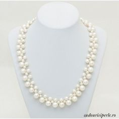 Colier White Pricess Diy And Crafts, Pearl Necklace, Jewels, Bead, String Of Pearls, Beaded Necklace, Bijoux, Pearl Necklaces, Gemstones