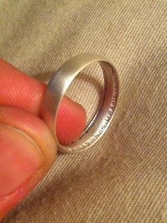 Make a ring out of a silver quarter.