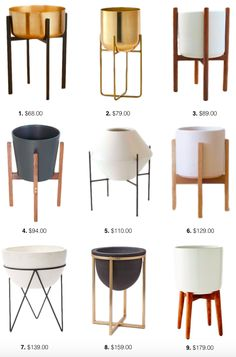 Planter Stand Round-up! Danielle Oakley Planter Stand Round-up! Furniture Ads, Furniture Layout, Cheap Furniture, Furniture Design, House Plants Decor, Plant Decor, Beautiful Space, Home Accessories, Living Room Decor