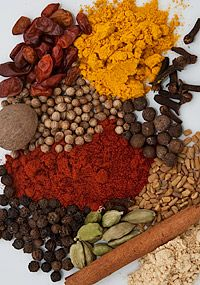 Berbere: a complex blend of chili peppers and spices that gives Ethiopian… Turkish Recipes, Indian Food Recipes, Berbere Spice, Ethiopian Cuisine, Diy Food Gifts, Natural Food Coloring, Spices And Herbs, Exotic Food, Seasoning Mixes