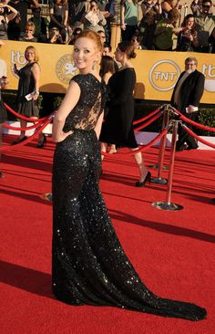 Jayma Mays in a Reem Acra - sparkle and lace at it's finest