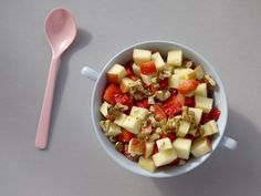 Yogurt, Fruit, and Nuts Breakfast