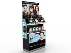POPidea 홈페이지 Cosmetics Display Stand, Cosmetic Display, Store Counter, Rack Design, Maybelline, Spin, Promotion, Packaging, Table