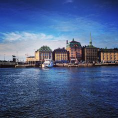The beautiful view over Gamla Stan, from the boat in Stockholm