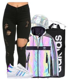 """""""Tbam- Halfway"""" by tanishacain ❤ liked on Polyvore featuring adidas"""