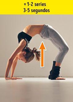 7Ejercicios eficientes para reducir las llantitas enlaespalda ylacintura 30 Days Workout Challenge, Cervical Cancer, Back Muscles, Wellness, Tone It Up, Aerobics, Weight Loss Transformation, Physical Activities, Fett