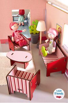 Little Friends – Puppenhaus-Möbel Wohnzimmer (Artikelnummer 300507)