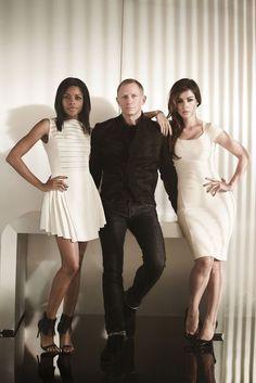 Naomie Harris, Daniel Craig and Bérénice Marlohe (Skyfall - 2012)