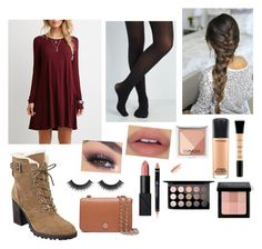 """""""Christmas outfit"""" by samanthananez15 ❤ liked on Polyvore featuring Smashbox, MAC Cosmetics, Bobbi Brown Cosmetics, Clinique, Tory Burch, NARS Cosmetics and Ivanka Trump"""
