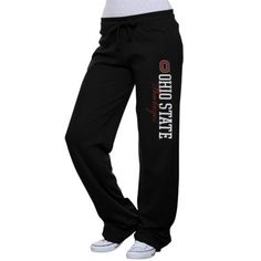 Ohio State Buckeyes Ladies Interlock Pants - Black